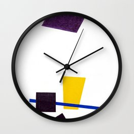 Kazimir Malevich - Painterly Realism of a Football Player—Color Masses in the 4th Dimension (new edi Wall Clock