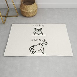 Inhale Exhale Pug Rug