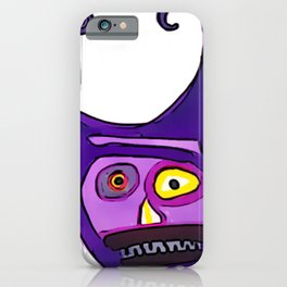 Purple Maniac iPhone Case