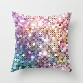 Rainbow glitter texture Throw Pillow