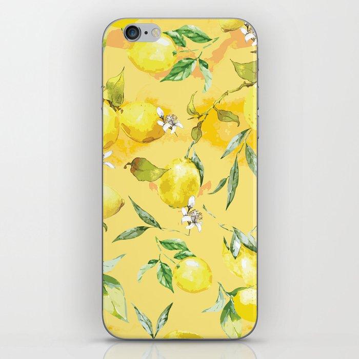 Watercolor lemons 5 iPhone Skin