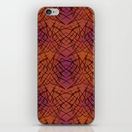 Brown red pattern . iPhone Skin