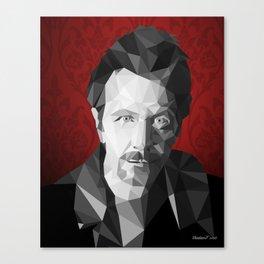 Gary Oldman low poly Canvas Print