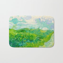 Field with Green Wheat 1890 Oil Painting By Vincent Van Gogh Bath Mat