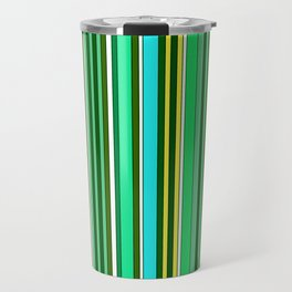 GREEN SPRING STRIPES Travel Mug