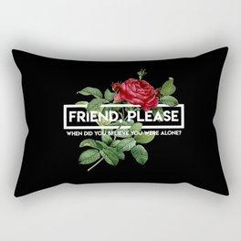 friend please Rectangular Pillow