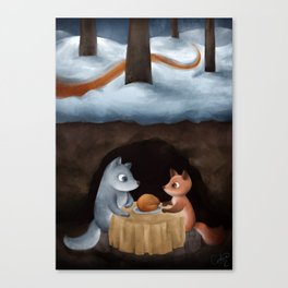 Mr Wolf and Miss Fox Canvas Print