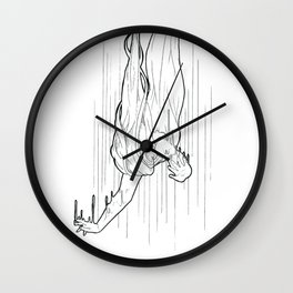 Nightmare falling Wall Clock