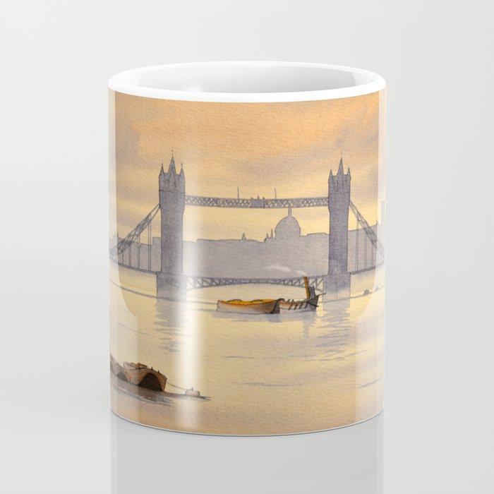 Tower Bridge and St Paul's Cathedral London Coffee Mug