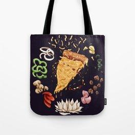 Pizza Mandala Tote Bag