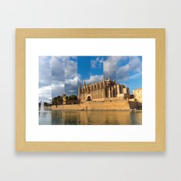 Cathedral of Palma de Mallorca Golden hour Timeslice Framed Art Print
