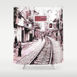 The train is coming soon.... Shower Curtain