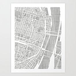 st. louis city print Art Print