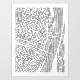 st. louis city print Art Print