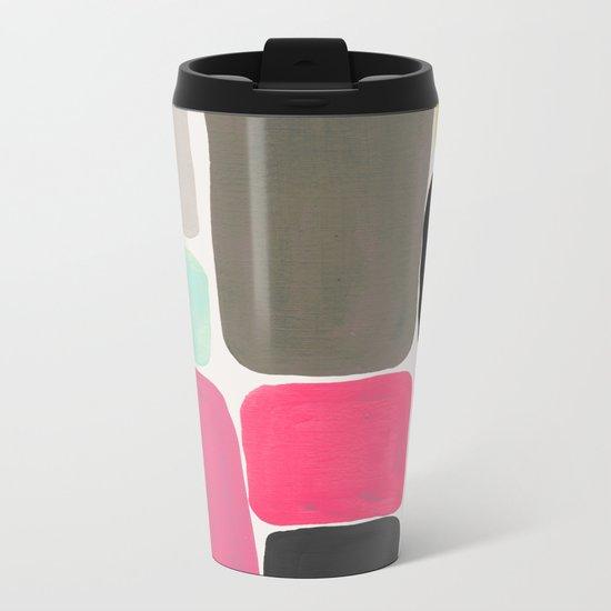 colour + pattern Metal Travel Mug