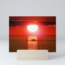 Sailboat Holds the Sun Mini Art Print