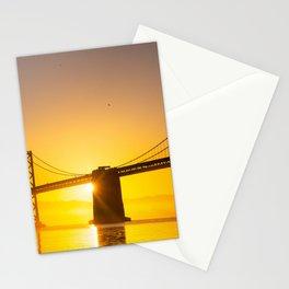 Bay Bridge Sunrise Stationery Cards