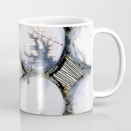 WATERCOLOUR DISCS: White Howlite (detail ) Coffee Mug