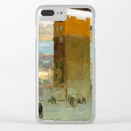 George Bellows - The Lone Tenement, 1909 Clear iPhone Case