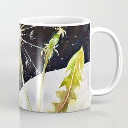 Dandelion Moon Surreal Space Travel, Taraxacum Coffee Mug