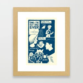 One of the Best Things Framed Art Print