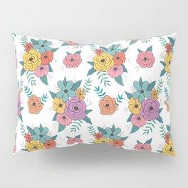 Gouache floral Pillow Sham