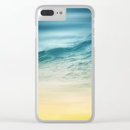Sunset Waves Clear iPhone Case