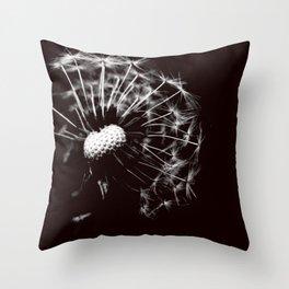 Dandelion Black & White Throw Pillow