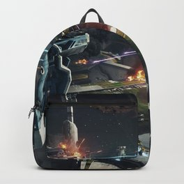 Spaceships battle Backpack