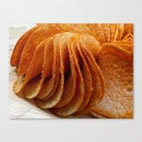 potato Canvas Prints featuring Potato Chips by Guna Andersone & Mario Raats - G&M Studi