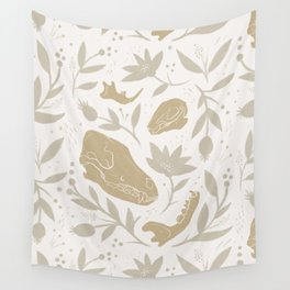 Forest Floor - Gold Wall Tapestry