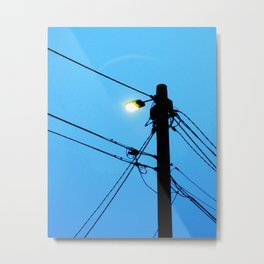 At First (street) Light Metal Print