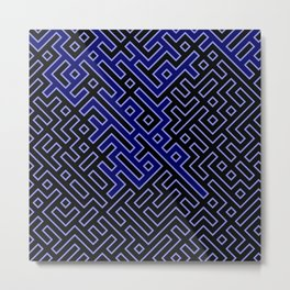 dark blue labyrinth Metal Print