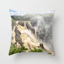 Barron Falls under a summer sky Throw Pillow