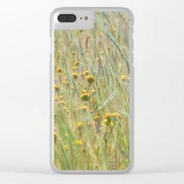 Wildflowers Field Clear iPhone Case