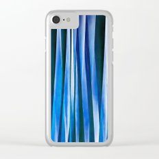 Harmony and Peace Blue Striped Abstract Pattern Clear iPhone Case