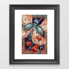 Moth Beetle Framed Art Print