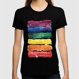 awesome rainbow watercolor T-shirt