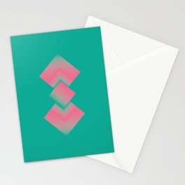 two energies green pink tower Stationery Cards