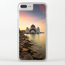 Lake Palace Sunset Clear iPhone Case