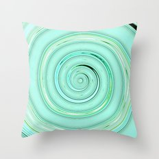Re-Created Spin Painting (Mint Green) by Robert S. Lee Throw Pillow