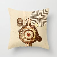 mandie manzano Throw Pillows featuring hypnotism by dvdesign