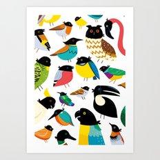 Ravens! Art Print