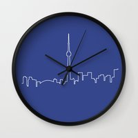 toronto Wall Clocks featuring Toronto by Emir Simsek