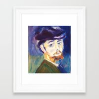 monet Framed Art Prints featuring Monet by AnthonyG