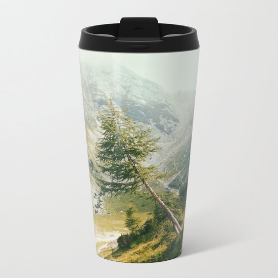 Green pine Metal Travel Mug