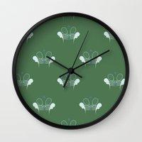 tennis Wall Clocks featuring Tennis by S. Vaeth