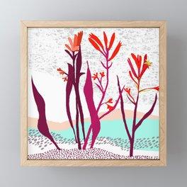 Kangaroo paw illustration Framed Mini Art Print