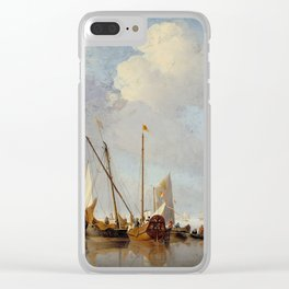 "Willem Van de Velde, the younger ""A Calm"" Clear iPhone Case"