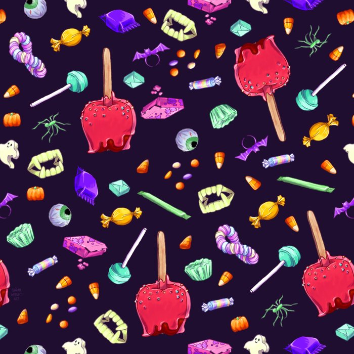 Halloween Candy Pattern Leggings